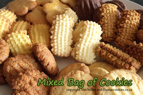 A bag of mixed cookies
