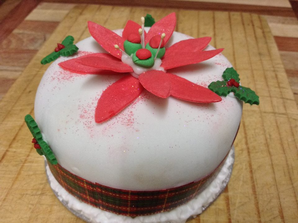 Fruit Cake, hand decorated South African Recipe