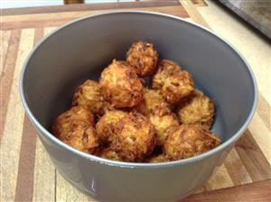 Potato balls in bowl